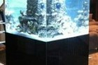 300g Cube Tank Center Overflow with Custom Rock Wall and hidden Vortech MP40′s